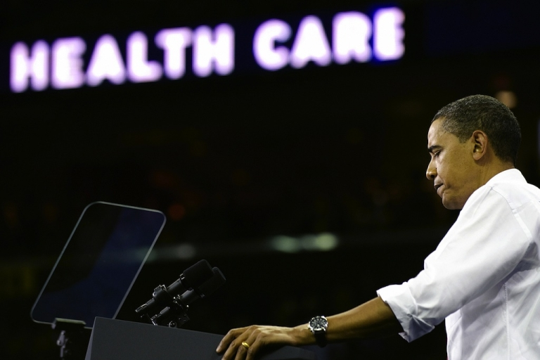 <p>US President Barack Obama speaks during a rally on health care at the Comcast Center in College Park, Maryland, on September 17, 2009. Insurance companies are seeking to cash in on the reforms to expand health coverage to more low-income Americans.</p>