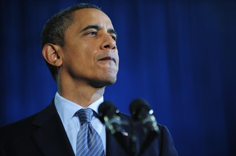 <p>President Barack Obama speaks at Osawatomie High School on Dec. 6, 2011.</p>