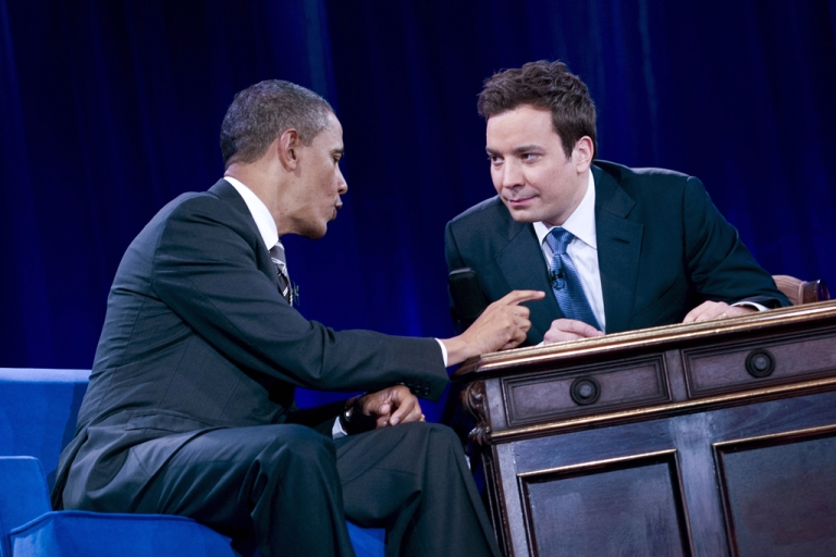<p>US President Barack Obama during a taping of