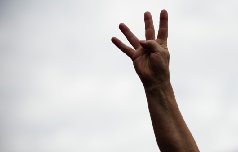 <p>A supporter wants four more years as US President Barack Obama delivers remarks during a campaign event in Dubuque, Iowa on August 15, 2012. He's apparently not alone.</p>