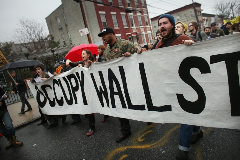 <p>Occupy New York in the streets</p>
