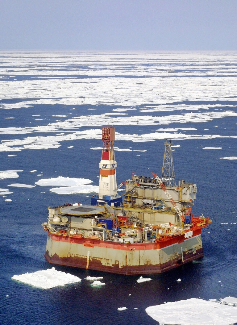 <p>The Molikpaq offshore oil platform, near Sakhalin island, Far Eastern Russia, on April 27, 2003.</p>
