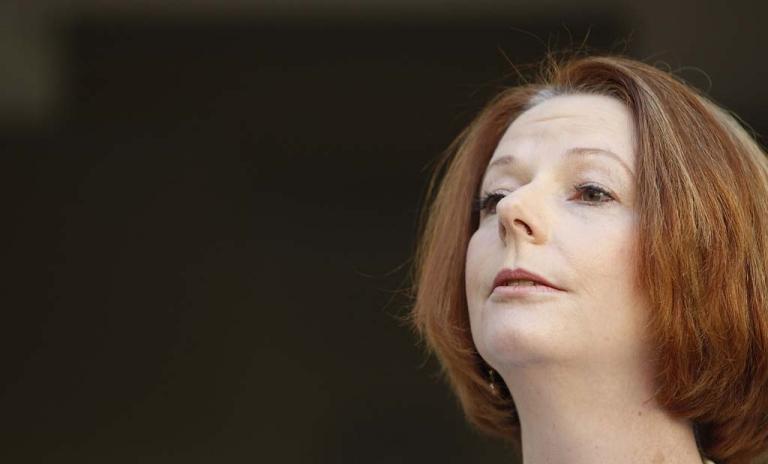 <p>Australian Prime Minister Julia Gillard at Parliament House on September 3.</p>