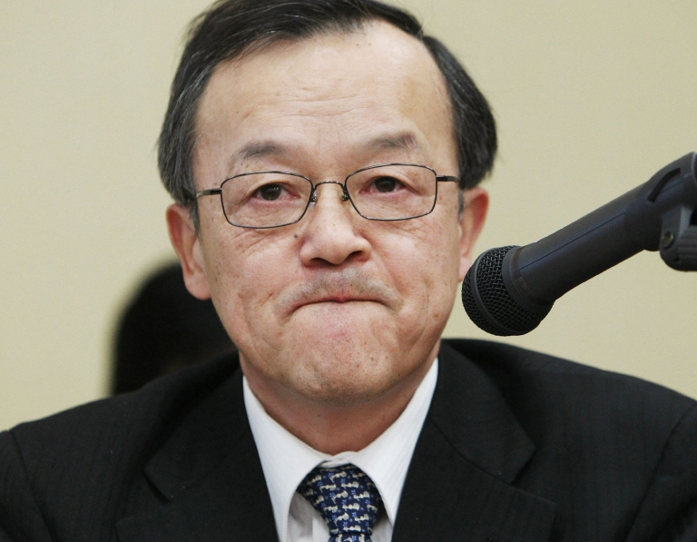 <p>Olympus is itself suing current and former executives over the accounting scandal, including current President Shuichi Takayama (pictured), in a bid to reassure investors and possibly recover a tiny amount of the total losses wiped off the firm's books.</p>