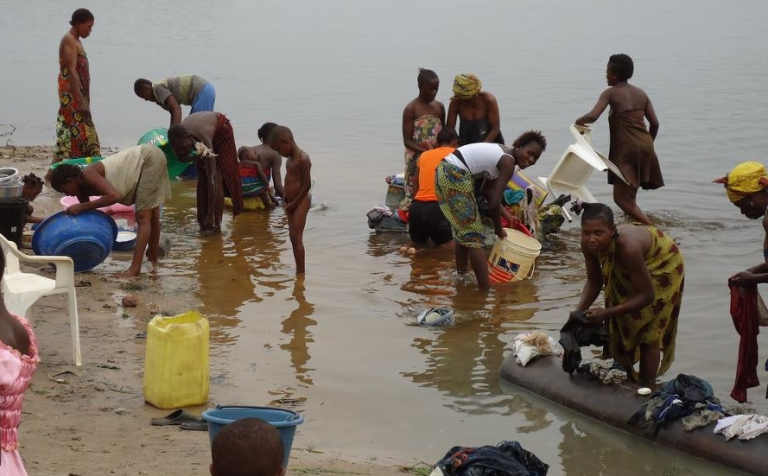 <p>The Congo River is major commercial route, and many people's main source of water for drinking, cooking and washing. Conditions like this are perfect for the transmission of cholera, which is spreading in the Democratic Republic of Congo and the Republic of Congo.</p>