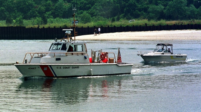 <p>The yacht's passengers were pulled from the water by US Coast Guards and private boat owners.</p>