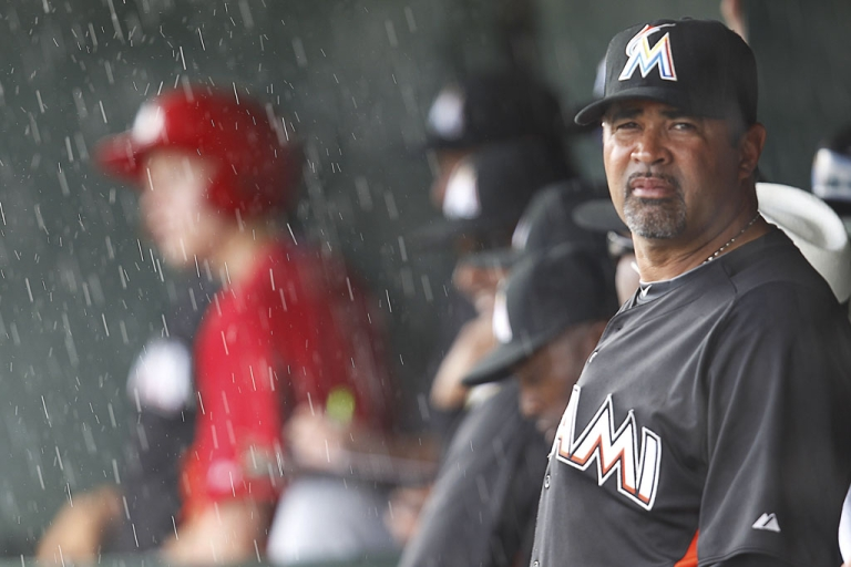 <p>The Miami Marlins baseball team suspended manager Ozzie Guillen five games for his comments about Cuban dictator Fidel Castro. Miami will donate Guillen's salary to charity.</p>