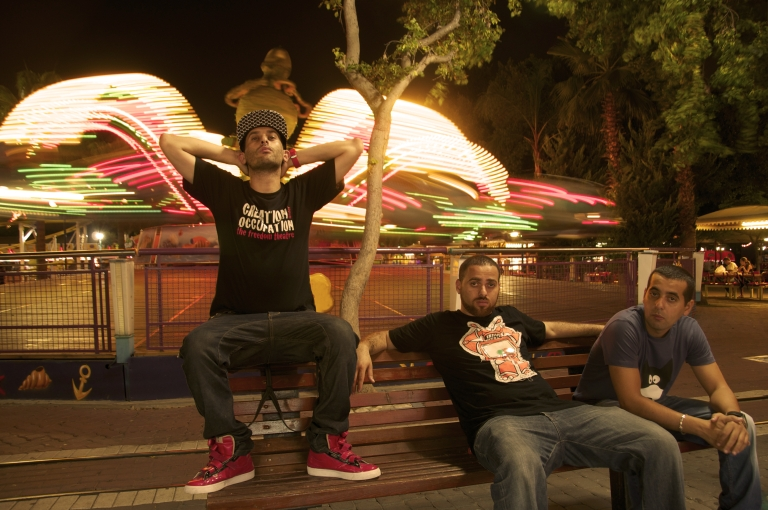 <p>Tamer Nafar, Suhell Nafar, and Mahmoud Jreri of DAM, the first Palestinian hip-hop crew and among the first to rap in Arabic, have been hailed as the soundtrack of Palestinian resistance.</p>