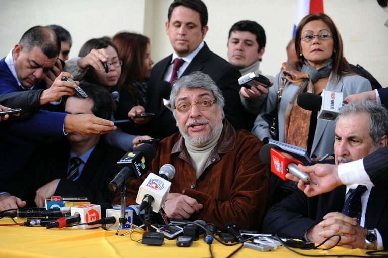 <p>Paraguay's impeached President Fernando Lugo says his opponents have staged a coup. But Lugo will still represent Paraguay in regional circles among allies who still regard him as the South American country's rightful president.</p>