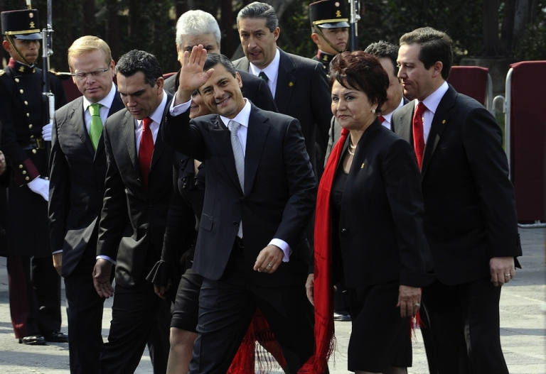 <p>Mexican President Enrique Pena Nieto arrives at the Mexican Congress to take the oath of office.</p>