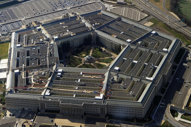 <p>This picture taken 26 December 2011 shows the Pentagon building in Washington, DC. It is the world's largest office building by floor area. Approximately 23,000 military and civilian employees and about 3,000 non-defense support personnel work in the Pentagon.</p>