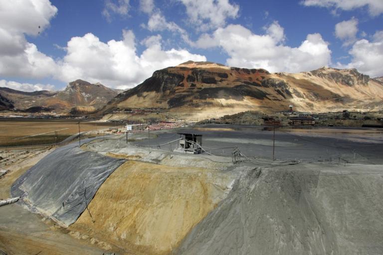 <p>Mining waste in Morococha, Peru.</p>