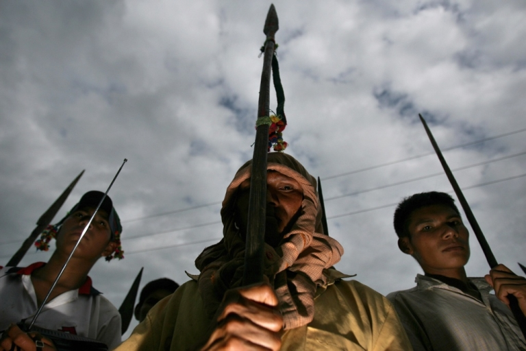 <p>Road block: Peru's indigenous groups protested in 2009 against former President Alan Garcia's plan to ease restrictions on industries including mining and wood harvesting in the Amazon. That ended in the Andean country's bloodiest conflict in nearly two decades with 35 dead from clashes between protesters and security forces. A new plan to cut a big road through the Amazon likely will be met by a hard fight as well should it pass Congress.</p>