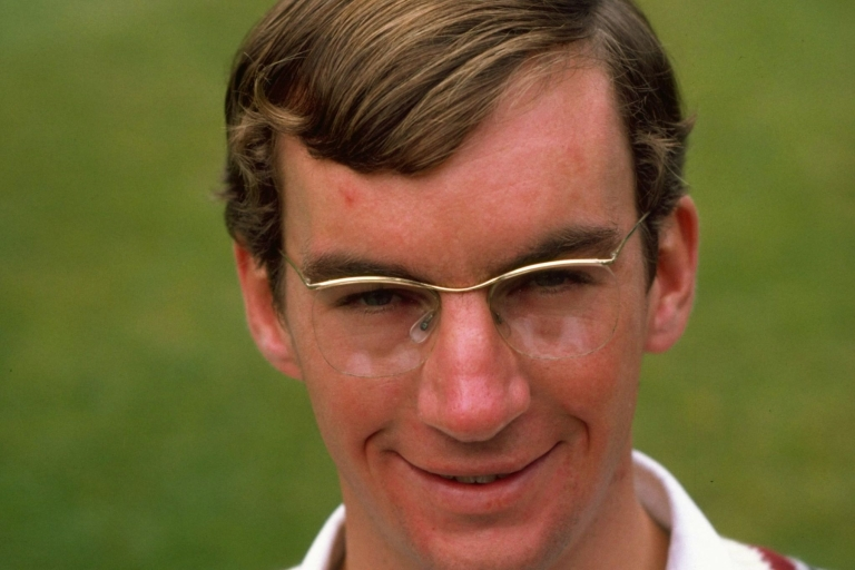<p>Peter Roebuck pictured in 1981, when playing for the Somerset cricket team.</p>