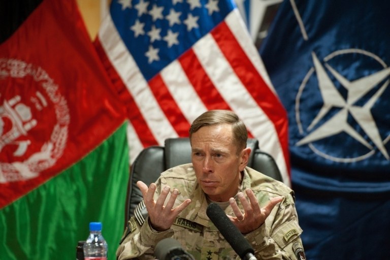 <p>Gen. David Petraeus in Kabul, Afghanistan.</p>
