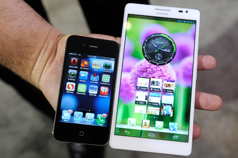 <p>Competition from new smartphones and 'phablets' like the Huawei Ascend do not bode well for Apple's market share.</p>