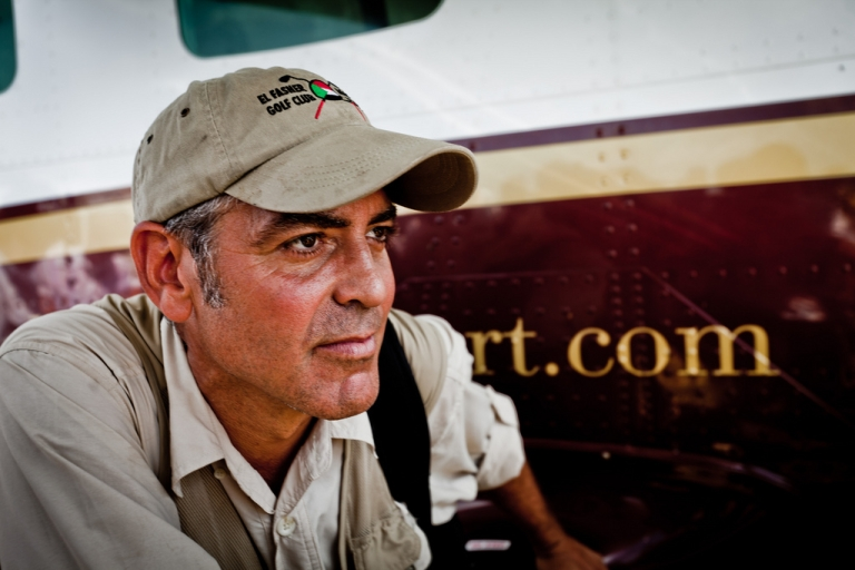 <p>George Clooney in South Sudan in October 2010.</p>