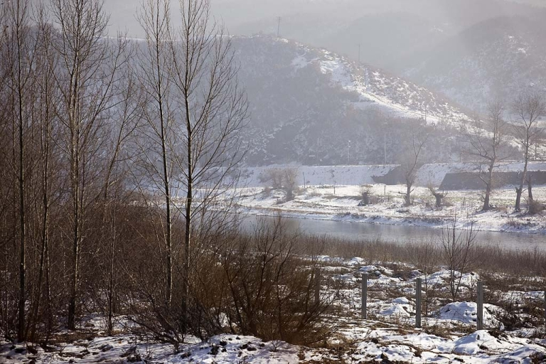 <p>Border fence separating China and North Korea in Jilin.</p>