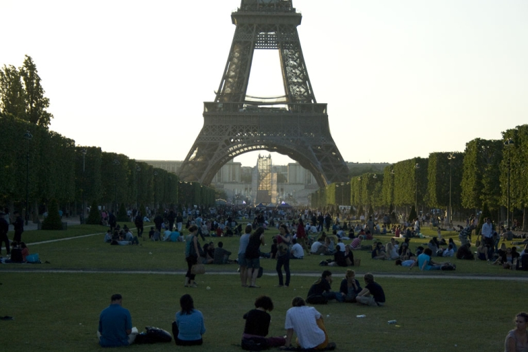 <p>The scene at the Champs de Mars in front of the Eiffel Tower in Paris, France on May 23, 2010.</p>
