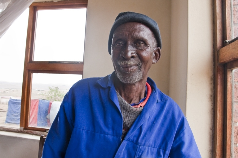 <p>Morris Mandela at the house that Nelson Mandela built for him in the village of Qunu, in South Africa's Eastern Cape province. Nelson Mandela spent his boyhood here. Morris was one of his last close relatives remaining in the village.</p>