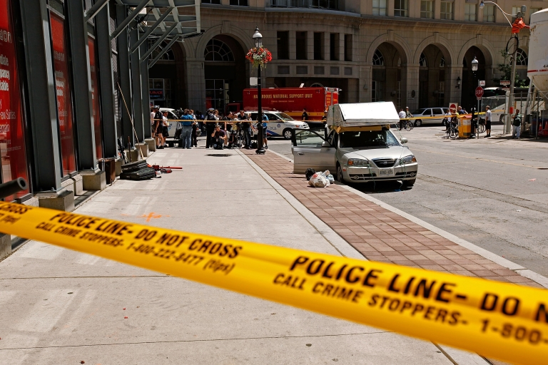 <p>Canadian authorities have arrested two Al Qaeda-linked men who were allegedly plotting to bomb trains outside the Toronto area.</p>