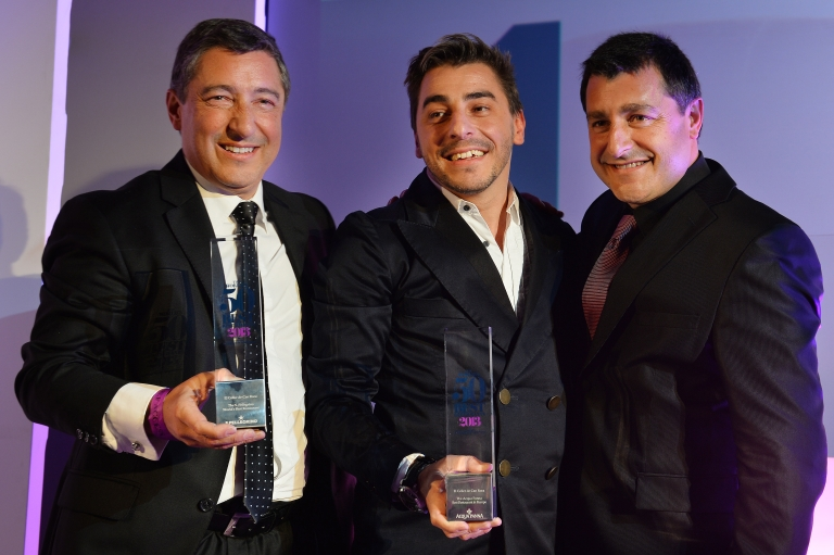 <p>Spanish Chefs Joan Roca (L) Jordi Roca (C) and Josep Roca of El Celler de Can Roca Girona pose for photographs after winning the World's 50 Best Restaurants Awards 2013 at the Guildhall in London on April 29, 2013.</p>