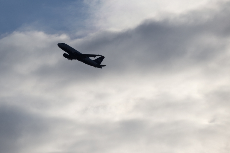 <p>A US Airways Airbus A320 airplane takes off from Ronald Reagan Washington National Airport in Arlington, Virginia, March 28, 2013.</p>