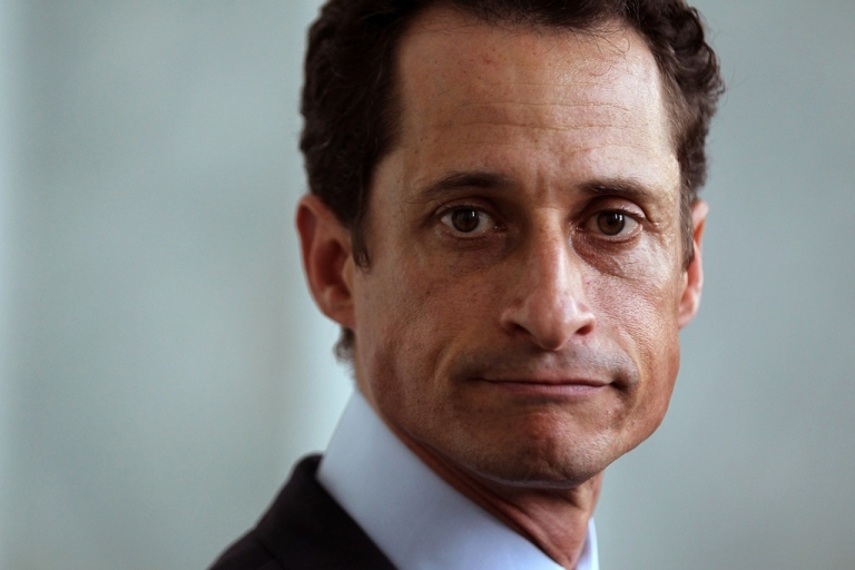 <p>Former US Rep. Anthony Weiner (D-NY) speaks to the media regarding a lewd photo tweet May 31, 2011 on Capitol Hill in Washington, DC.</p>