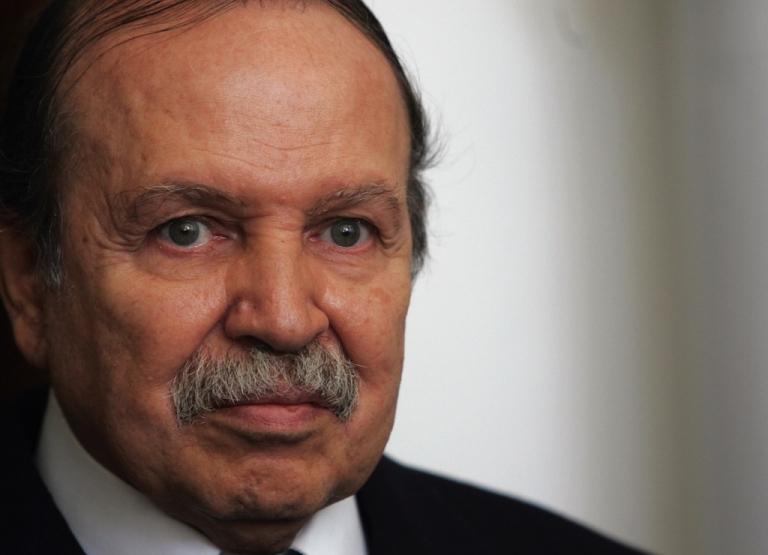 <p>Algerian President Abdelaziz Bouteflika in Algiers City on Dec. 18, 2007.</p>