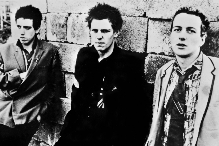 <p>Members of The Clash in 1978. The punk group captured the zeitgeist when riots were tearing through derelict neighborhoods of London and other cites.</p>