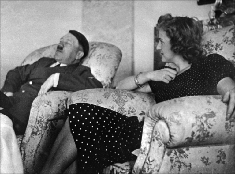 <p>Undated and unlocated picture of German Chancellor and 'Reichsfnhrer' (chief) Adolf Hitler relaxing with his mistress Eva Braun.</p>