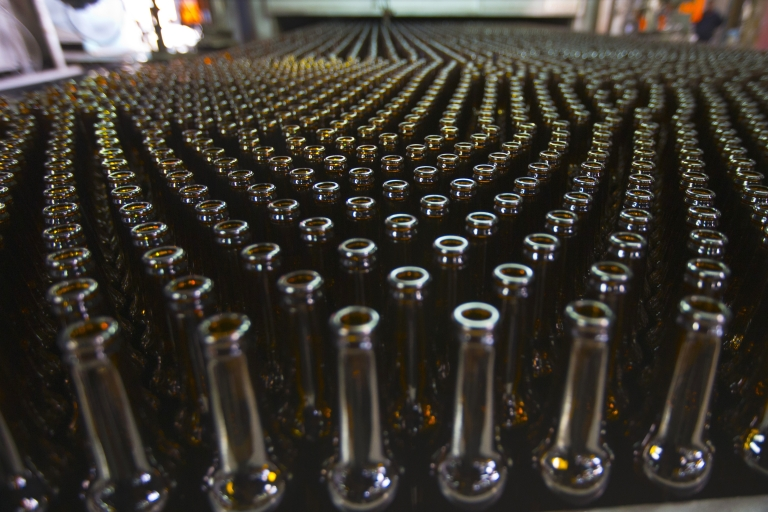 <p>Bottles on the production line at Phoenicia Glass Works Ltd factory in the southern Israeli town of Yeruham.</p>