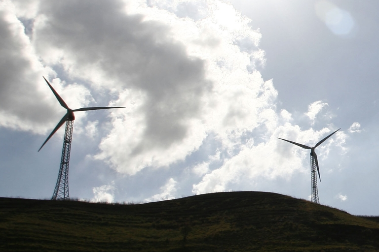 <p>Wind turbines near the village of Patirnico, between Palermo and Trapani.</p>