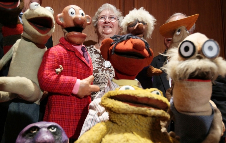 <p>Jane Henson, co-creator of the Muppets, at the Smithsonian's National Museum of American History, on Aug. 25, 2010 in Washington, DC.</p>