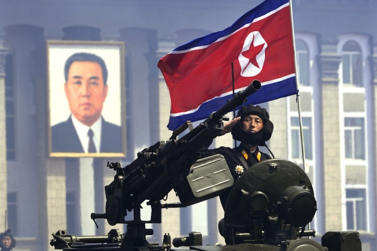 <p>File photo shows a North Korean soldier during a military parade to mark 100 years since the birth of the country's founder Kim Il-Sung in Pyongyang on April 15, 2012.</p>