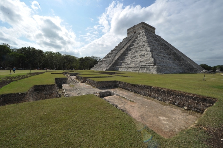 <p>The El Castillo (The Castle), a step pyramid at the Chichen Itza archaeological site that was built by the Mayan civilization in the Mexican state of Yucatan, on Dec. 2, 2010.</p>