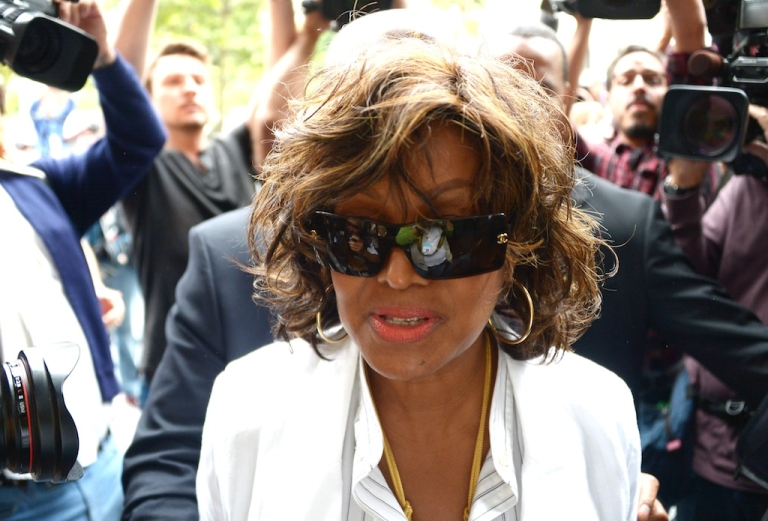 <p>Rebbi Jackson, sister of the late pop star Michael Jackson, arrives at Los Angeles Superior Court where the trial of Katherine Jackson and Michael's children against concert promoter AEG Live is being held at Los Angeles Superior Court on April 29, 2013 in Los Angeles, California. Jackson heirs reportedly will ask the jury for $40 billion in damages against AEG Live.</p>