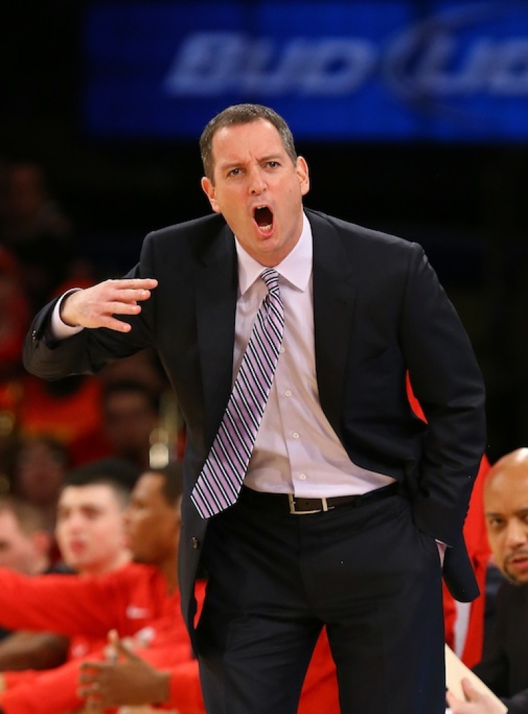 <p>Head coach Mike Rice of the Rutgers Scarlet Knights was fired after a video went public of him abusing players and shouting gay slurs during practice.</p>