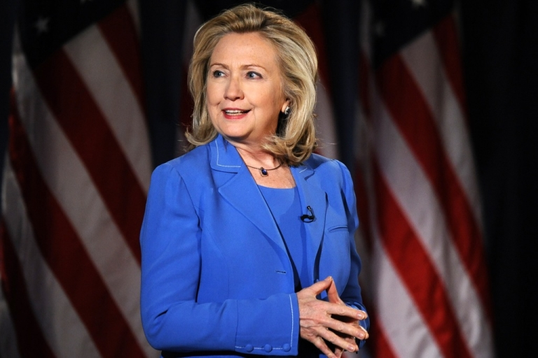 <p>Former US Secretary of State Hillary Clinton says she is both