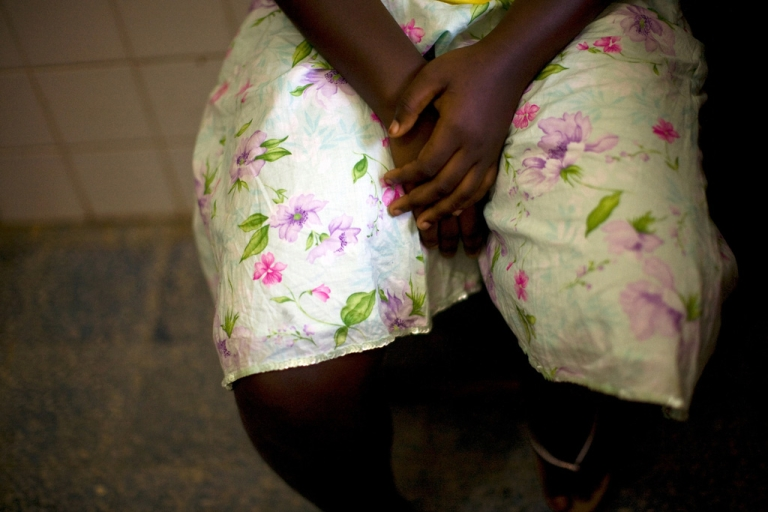 <p>A 15-year-old girl seeks treatment at Doctors Without Boarders (MSF) clinic in Monrovia, Liberia, on November 30, 2009 after being raped.</p>