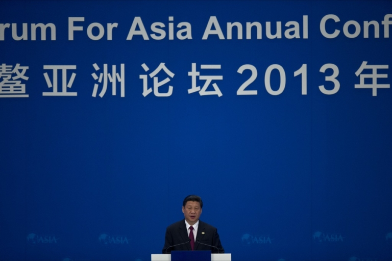 <p>China's President Xi Jinping speaks at the opening ceremony of the annual the Boao Forum for Asia in Boao, in southern China's Hainan province, on April 7, 2013.</p>