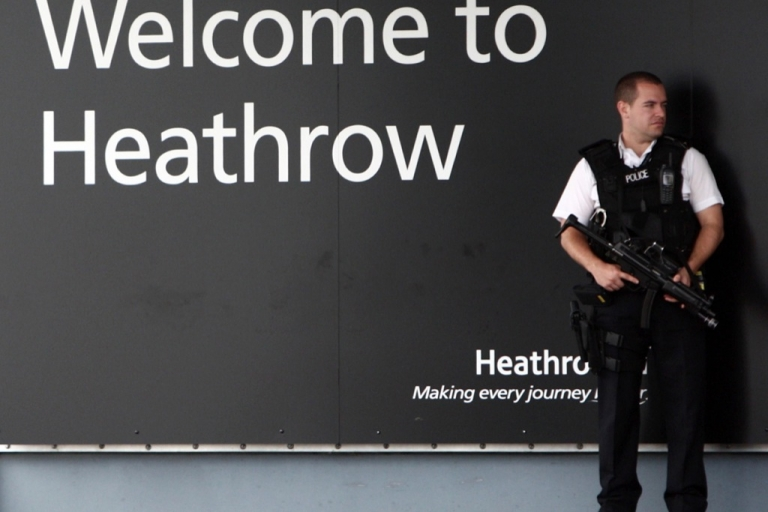 <p>Glenn Greenwald's partner David Miranda told reporters that six British agents questioned him continuously about all aspects of his life during his detention in a room at Heathrow airport.</p>