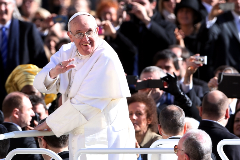<p>Pope Francis said the Catholic church has the right to its opinions but not to