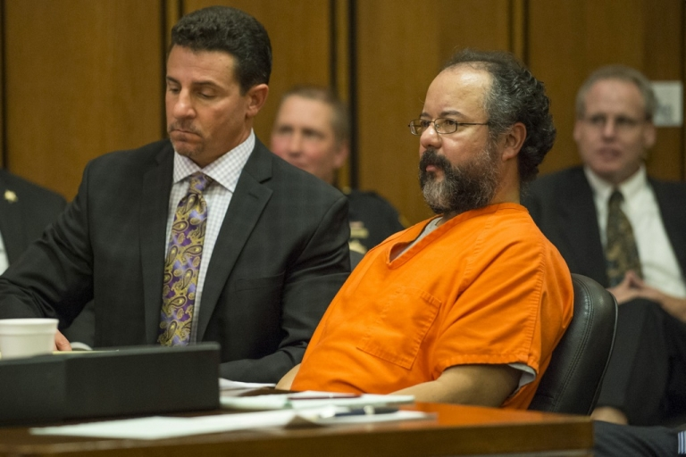 <p>Ariel Castro pleads to Judge Michael Russo during his sentencing on August 1, 2013 in Cleveland, Ohio. Castro was found hanged in his jail cell and pronounced dead on Tuesday September 3, 2013.</p>