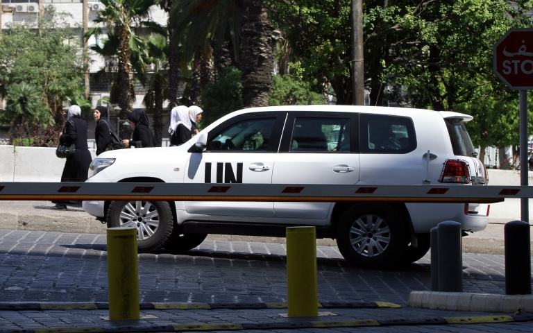 <p>The UN chemical weapons investigation team arrives in Damascus. Syria has agreed to give UN inspectors full access to the site of a purported chemical weapons attack on Aug. 21, 2013, that activists say killed more than 300 people.</p>