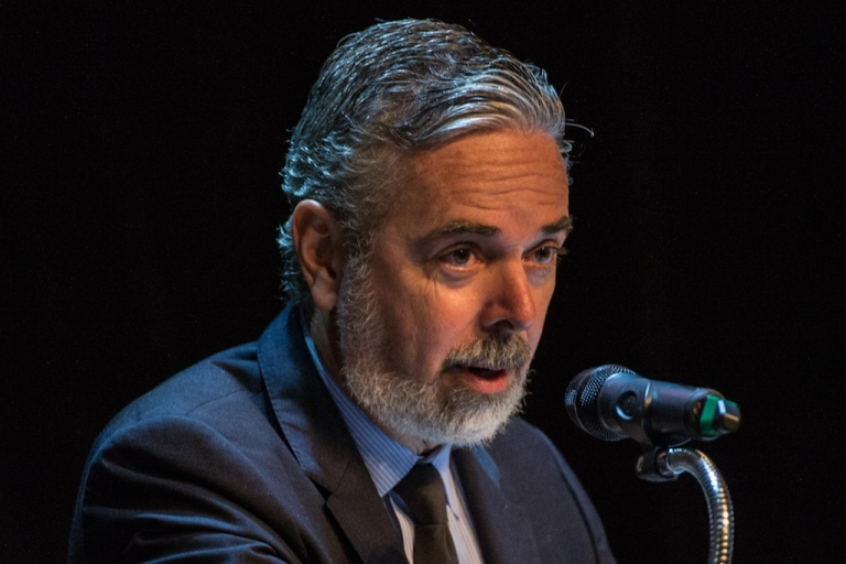 <p>Brazil's Foreign Minister Antonio Patriota, speaks in Rio de Janeiro on August 19, 2013 at the seminar organized by the United Nations to commemorate the tenth anniversary of the death of 22 people — including UN secretary general's special representative to Iraq, Sergio Vieira de Mello — in a suicide bomb attack against the Baghdad hotel housing the UN offices in 2003. Patriota resigned as foreign minister on August 26, 2013 after a diplomatic dispute with Bolivia.</p>