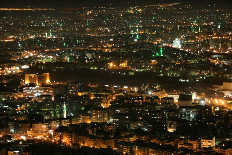 <p>Damascus by night.</p>