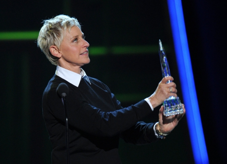 <p>Ellen DeGeneres onstage at the 39th Annual People's Choice Awards in Los Angeles on January 9, 2013.</p>