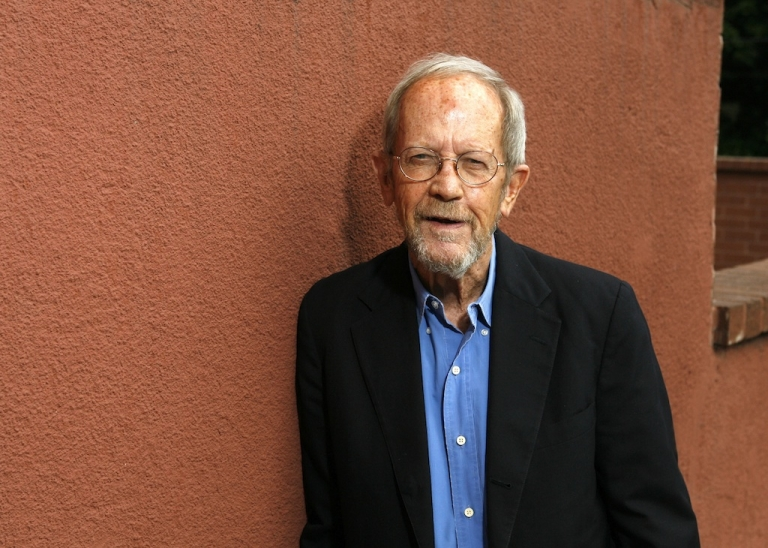 <p>Author Elmore Leonard poses during a portrait session prior to a reading and signing of his latest novel 'Up In Honey's Room' on May 24, 2007 at Book Soup in Los Angeles, California.</p>