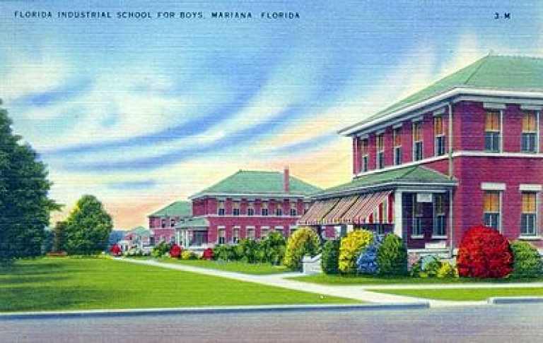 <p>Postcard image of the Florida Industrial School for Boys in Marianna, FL.</p>